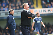 Bury manager Lee Clark with crossed arms during the EFL Sky Bet League 1 match between Southend United and Bury at Roots Hall, Southend, England on 30 April 2017. Photo by Matthew Redman.
