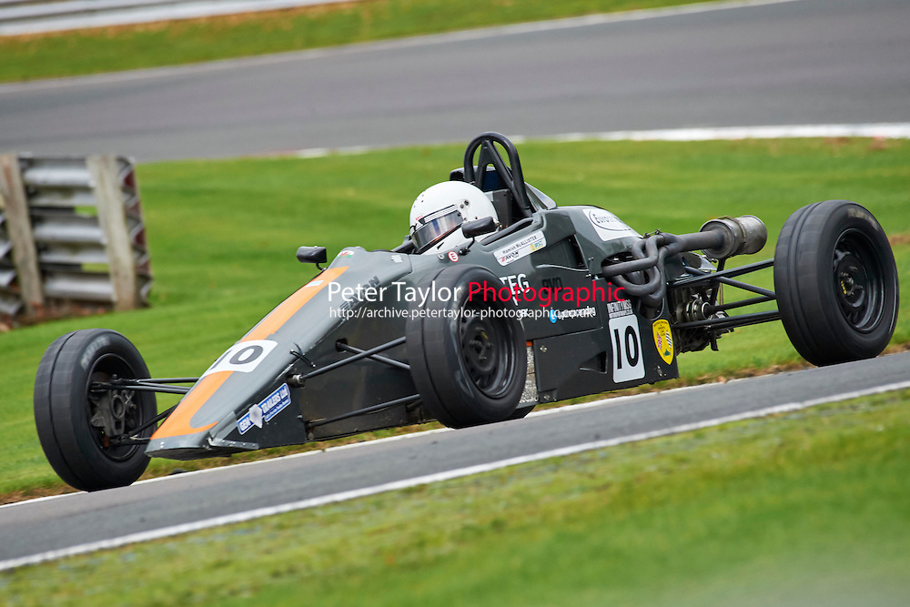 #10 Hamish McAllister Van Diemen RF91 during Avon Tyres Formula Ford 1600 Northern Championship - Prost 89 Race 2 as part of the BRSCC Fun Cup Oulton Park 17th October 2015 at Oulton Park, Little Budworth, Cheshire, United Kingdom. October 17 2015. World Copyright Taylor/PSP. Copy of publication required for printed pictures.  Every used picture is fee-liable. http://archive.petertaylor-photographic.co.uk