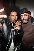l to r: Pharoah Monch and Large Professor at The Brand New Heavies Live, Produced by Jill Newman Productions and held at The Highline Ballroom on October 19, 2009 in New York City
