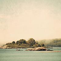 A small island along the Massachusetts North Shore.