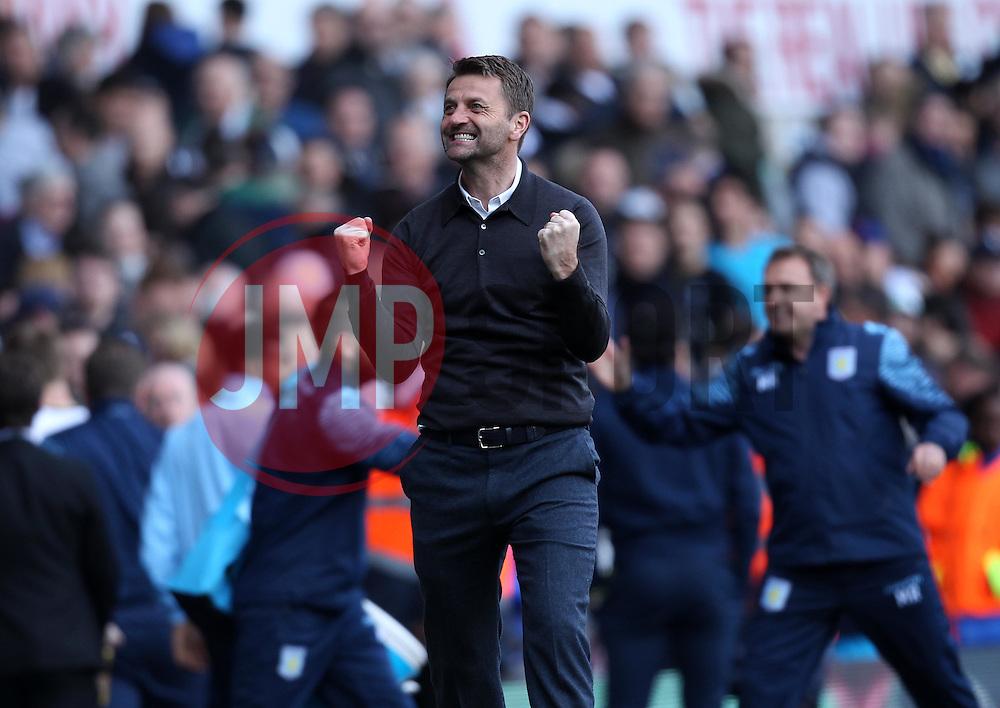Aston Villa Manager, Tim Sherwood celebrates - Photo mandatory by-line: Robbie Stephenson/JMP - Mobile: 07966 386802 - 11/04/2015 - SPORT - Football - London - White Hart Lane - Tottenham Hotspur v Aston Villa - Barclays Premier League