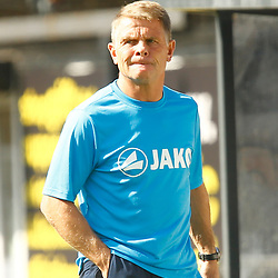 Eastleighs manager Andy Hessenthaler looks happy with his sides performance during the National League match between Dover Athletic FC and Eastleigh FC at Crabble Stadium, Kent on 25 August 2018. Photo by Matt Bristow.