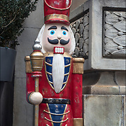 Larger wooden Nutcracker Soldier Christmas  Holiday Decorations outdoors