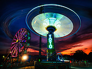 YoYo ride at dusk at the Howard County Fair in Ellicott City, MD.