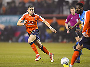 Luton Town player Dan Potts passes off the ball in the second half during the EFL Sky Bet League 2 match between Luton Town and Barnet at Kenilworth Road, Luton, England on 24 March 2018. Picture by Ian  Muir.