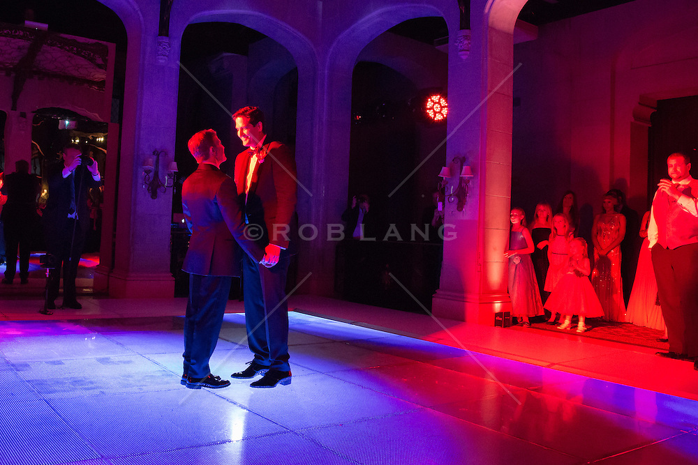 gay couple's first dance on their wedding day