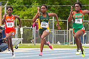 during the 2013 MEAC Outdoor Track & Field Championships at the Irwin Belk Track in Greensboro, North Carolina.  May 03, 2013  (Photo by Mark W. Sutton)