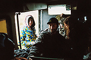 People inside a van at MUDTEK festival in Llanddewi Brefi, Wales 2016