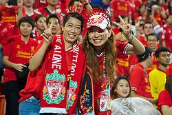 BANGKOK, THAILAND - Sunday, July 28, 2013: Two Liverpool supporters during a preseason friendly match against Thailand at the Rajamangala National Stadium. (Pic by David Rawcliffe/Propaganda)