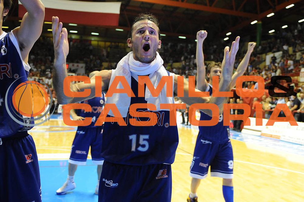 DESCRIZIONE : Forli LNP Lega Nazionale Pallacanestro Serie A Dilettanti 2009-10 Playoff Finale Gara1 Vemsistemi Forli Amori Fortitudo Bologna<br /> GIOCATORE : Gennaro Sorrentino<br /> SQUADRA : Amori Fortitudo Bologna<br /> EVENTO : Lega Nazionale Pallacanestro 2009-2010 <br /> GARA : Vemsistemi Forli Amori Fortitudo Bologna<br /> DATA : 07/06/2010<br /> CATEGORIA : esultanza<br /> SPORT : Pallacanestro <br /> AUTORE : Agenzia Ciamillo-Castoria/M.Marchi<br /> Galleria : Lega Nazionale Pallacanestro 2009-2010 <br /> Fotonotizia : Forli LNP Lega Nazionale Pallacanestro Serie A Dilettanti 2009-10 Playoff Finale Gara1 Vemsistemi Forli Amori Fortitudo Bologna<br /> Predefinita :
