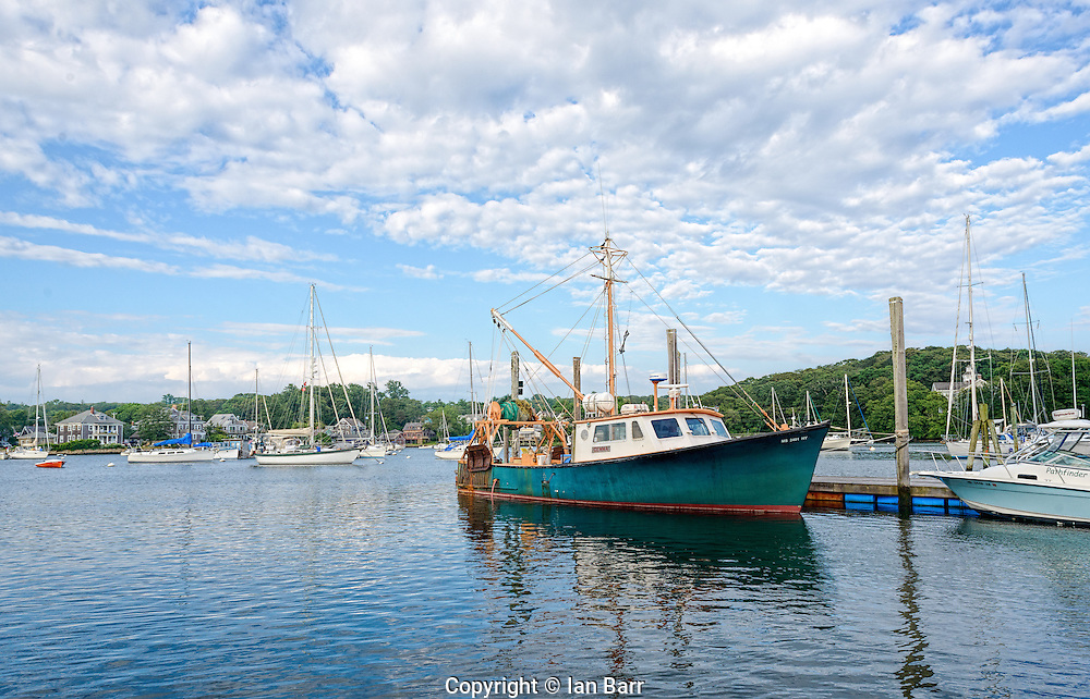 Harbor at Woods Hole, Cape Cod,Massachusetts