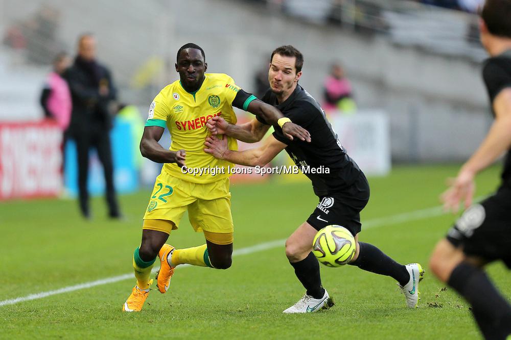 Issa CISSOKHO / Kevin LEJEUNE - 11.01.2015 - Nantes / Metz - 20e journee de Ligue 1<br />Photo : Vincent Michel / Icon Sport