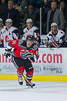 KELOWNA, CANADA - NOVEMBER 30: Carter Rigby #11 of the Kelowna Rockets skates on the ice against the Moose Jaw Warriors at the Kelowna Rockets on November 30, 2012 at Prospera Place in Kelowna, British Columbia, Canada (Photo by Marissa Baecker/Getty Images) *** Local Caption ***