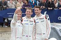 Patrick PILET (FRA) / Nick TANDY (GBR) / Kevin ESTRE (FRA) /  #91 PORSCHE MOTORSPORT PORSCHE 911 RSR (2016),  during the Le Mans 24 Hr June 2016 at Circuit de la Sarthe, Le Mans, Pays de la Loire, France. June 12 2016. World Copyright Peter Taylor/PSP.