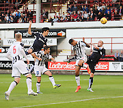 Dundee's Julen Etxabeguren heads just wide - Dunfermline Athletic v Dundee - Scottish League Cup at East End Park<br /> <br />  - &copy; David Young - www.davidyoungphoto.co.uk - email: davidyoungphoto@gmail.com