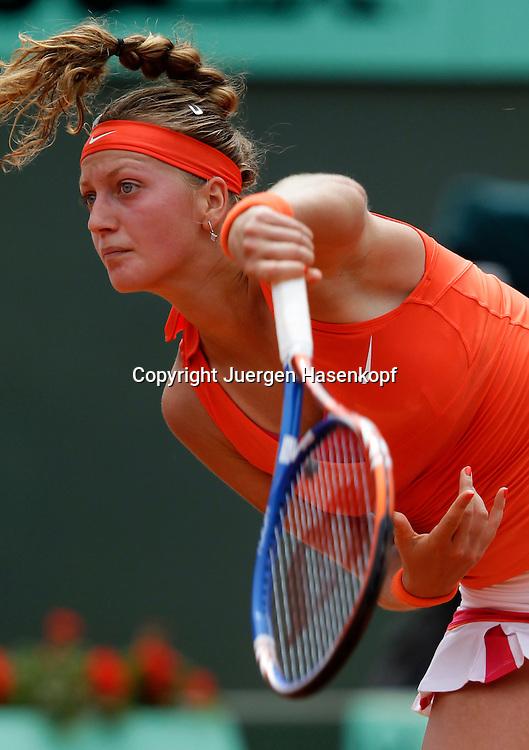 French Open 2011, Roland Garros,Paris,ITF Grand Slam Tennis Tournament . Petra Kvitova (CZE)),.Einzelbild, Aktion,