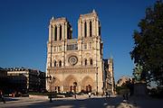 West façade, Notre Dame de Paris, 1163 ? 1345, initiated by the bishop Maurice de Sully, Ile de la Cité, Paris, France. Picture by Manuel Cohen