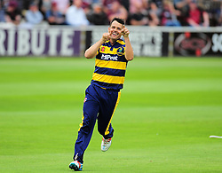 Jacques Rudolph of Glamorgan celebrates running out Jim Allenby of Somerset.  - Mandatory by-line: Alex Davidson/JMP - 24/07/2016 - CRICKET - Cooper Associates County Ground - Taunton, United Kingdom - Somerset v Glamorgan - Royal London One Day