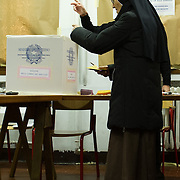 VENICE, ITALY - FEBRUARY 24:  Italians are heading to the polls today to vote in the elections, as the country remains in the grip of economic problems .