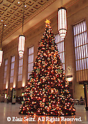 Christmas tree in 30th Street Station, Philadelphia, PA