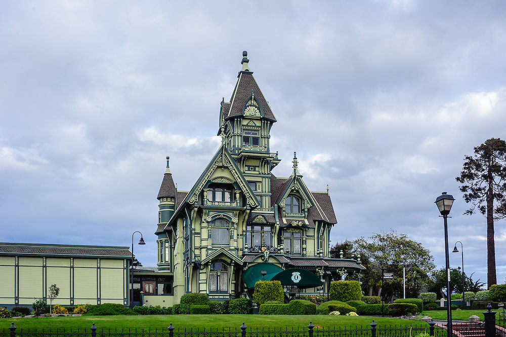 The Carson Mansion (1886) in Eureka's Old Town, California, Victorian by Newsom and Newsom