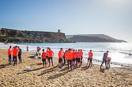 MALTA, La Valletta, voetbal, seizoen 2015-2016, 10-1-2016, winterstop, training PSV, Golden Sands strand, PSV traint onder zomerse omstandigheden op het strand.