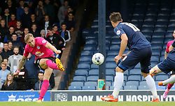 Jack Collison of Peterborough United has a shot cleared off the line - Mandatory byline: Joe Dent/JMP - 07966386802 - 05/09/2015 - FOOTBALL - Roots Hall -Southend,England - Southend United v Peterborough United - Sky Bet League One