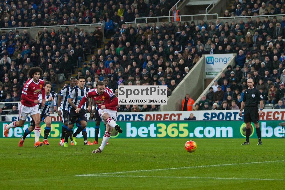 Newcastle v Manchester Utd 12 January 2016<br /> Wayne Rooney scores a penalty<br /> (c) Russell G Sneddon / SportPix.org.uk