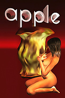 All of us understand the old adage that assures that an apple a day can keep…something away. In most cases, the expression refers to doctors. However, the truth of the matter is that regardless of who you are, it is possible to have that apple mean anything that you please. What do you want to use an apple to repel? What does an apple keep away in your life? As you consider these thoughts, pay attention to the contrast of the half-eaten apple with the visual of a nude woman. This is a powerful, somewhat surreal image. It is sure to make an impression on your visitors.
