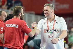 Nicolaj Jacobsen, head coach of Denmark during handball match between National teams of Macedonia and Denmark on Day 7 in Main Round of Men's EHF EURO 2018, on January 24, 2018 in Arena Varazdin, Varazdin, Croatia. Photo by Mario Horvat / Sportida