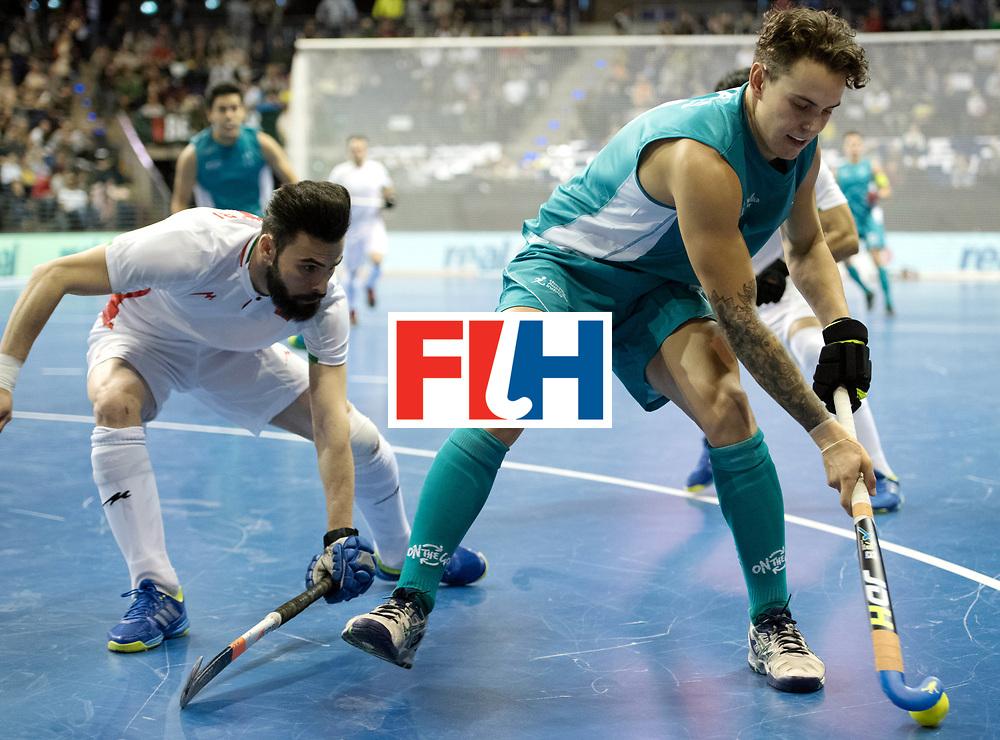 BERLIN - Indoor Hockey World Cup<br /> Bronze: Iran - Australia<br /> foto: Jack Hayes <br /> WORLDSPORTPICS COPYRIGHT FRANK UIJLENBROEK