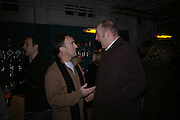 Dara O'Brian and Angus Deayton. . 'The Exonerated' Riverside Studios. 24 February 2006. ONE TIME USE ONLY - DO NOT ARCHIVE  © Copyright Photograph by Dafydd Jones 66 Stockwell Park Rd. London SW9 0DA Tel 020 7733 0108 www.dafjones.com