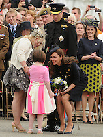 WINDSOR, UK: The Duke and Duchess of Cambridge present Operational Medals to the Irish Guards at Victoria Barracks, Windsor, on the 24th June 2011..PHOTOGRAPH BY JAMES WHATLING