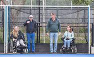 UTRECHT - rolstoelen op een veilig plekje op het veld.  voor de 2e finale van de play-offs om de landtitel tussen de heren van Kampong en Amsterdam  (1-2) . Zondag volgt er een derde en beslissende wedstrijd. COPYRIGHT  KOEN SUYK