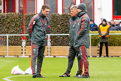 14.03.2019, Säbener Strasse, Muenchen, GER, 1. FBL, FC Bayern Muenchen vs 1. FSV Mainz 05, Training, im Bild v.l. CO Trainer Robert Kovac (FC Bayern), CO Trainer Perter Hermann (FC Bayern), Headcoach Niko Kovac (FC Bayern) // during a trainings session before the German Bundesliga 26th round match between FC Bayern Muenchen and 1. FSV Mainz 05 at the Säbener Strasse in Muenchen, Germany on 2019/03/14. EXPA Pictures © 2019, PhotoCredit: EXPA/ Lukas Huter