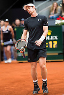 Andy Murray during the final of the Madrid Open at Manzanares Park Tennis Centre, Madrid<br /> Picture by EXPA Pictures/Focus Images Ltd 07814482222<br /> 08/05/2016<br /> ***UK &amp; IRELAND ONLY***<br /> EXPA-ESP-160509-0092.jpg