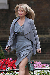 Downing Street, London July 15th 2014. Esther McVey, appointed to the Cabinet, arrives at 10 Downing street as PM David Cameron reshuffles portfolios.