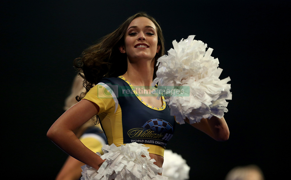 General view of William Hill dancers during the walk on during the walk on during day ten of the William Hill World Darts Championship at Alexandra Palace, London.