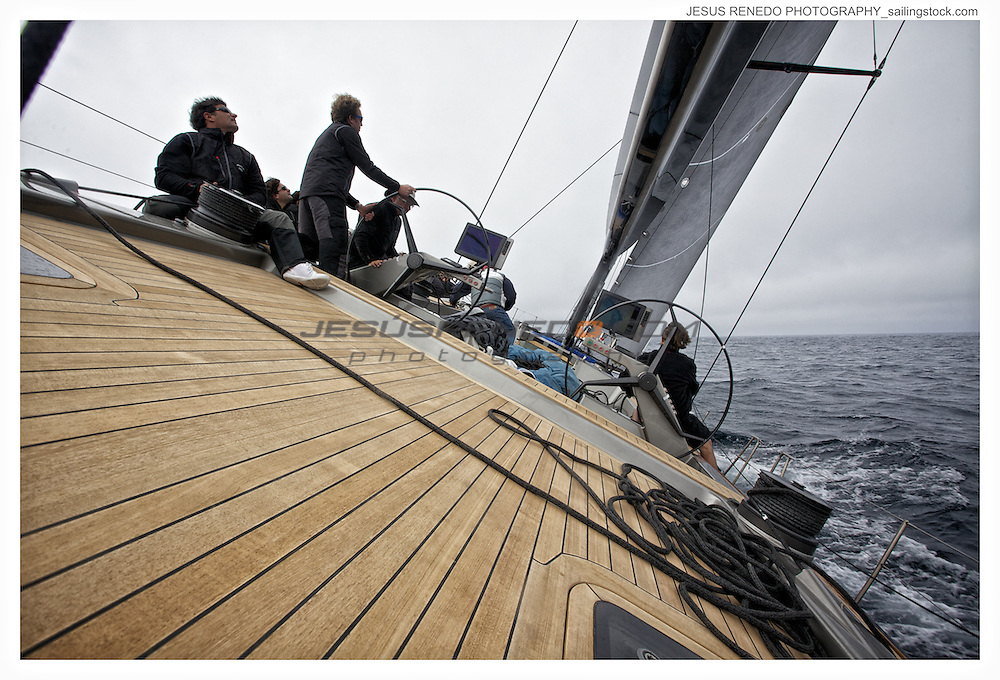 Maxi 94 Galma, training in Palma before Palmavela 2013