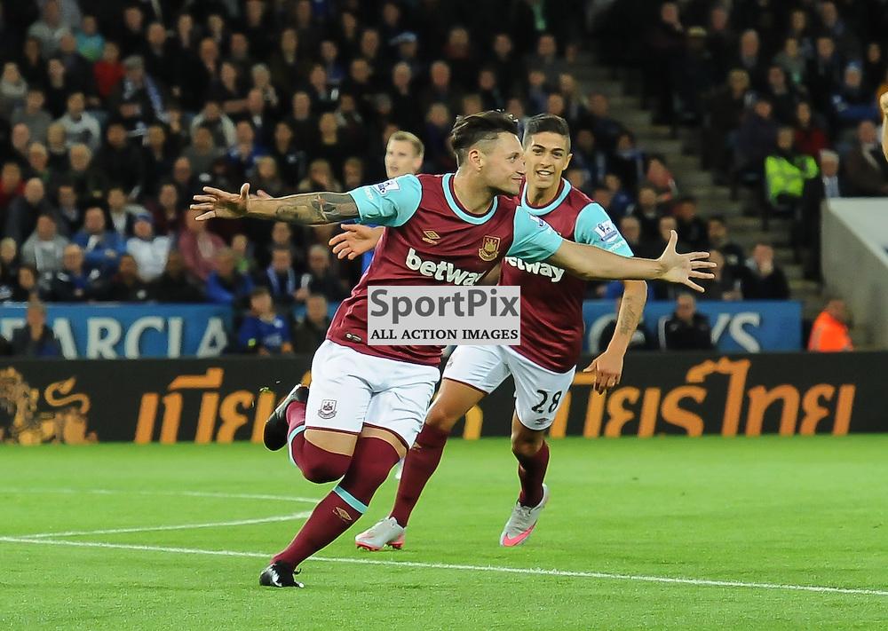 Mauro Zarate turns away after scoring the equaliser for West Ham at 1-1 (c) Simon Kimber | SportPix.org.uk