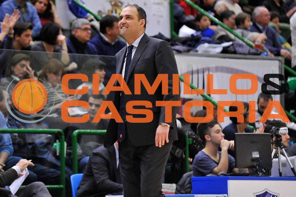 DESCRIZIONE : Beko Legabasket Serie A 2015- 2016 Dinamo Banco di Sardegna Sassari - Openjobmetis Varese<br /> GIOCATORE : Paolo Moretti<br /> CATEGORIA : Allenatore Coach Ritratto Curiosit&agrave;<br /> SQUADRA : Openjobmetis Varese<br /> EVENTO : Beko Legabasket Serie A 2015-2016<br /> GARA : Dinamo Banco di Sardegna Sassari - Openjobmetis Varese<br /> DATA : 07/02/2016<br /> SPORT : Pallacanestro <br /> AUTORE : Agenzia Ciamillo-Castoria/C.Atzori