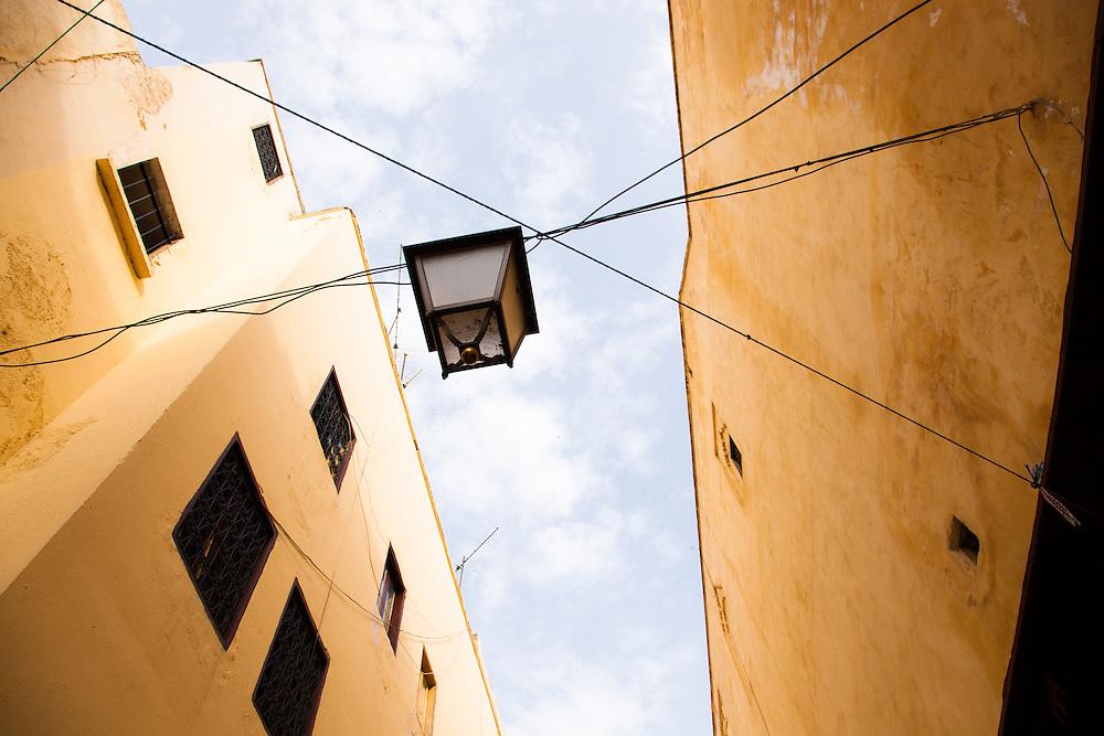 Hanging street lantern, Fez, Morocco.