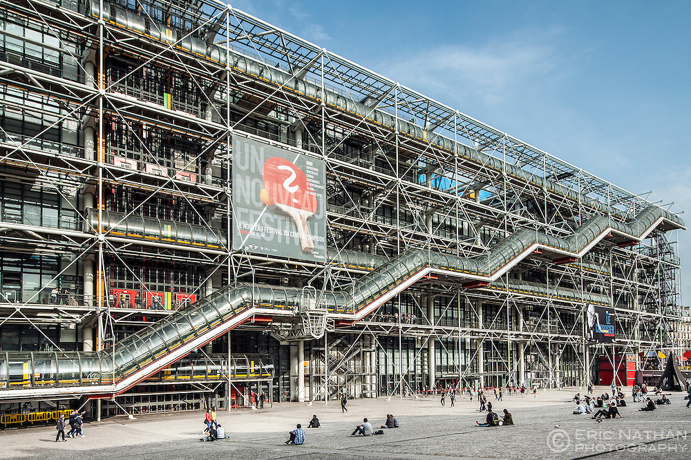 The Centre Georges Pompidou building in central Paris.