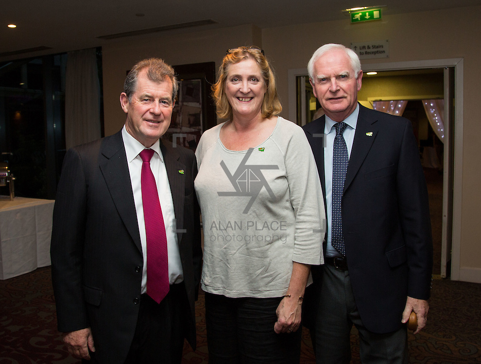 11.10.2016        <br /> Pictured at the Grand Final of the Limerick Going for Gold 2016 Awards were, JP McManus, Helen O'Donnell and Gerry Boland. Picture: Alan Place