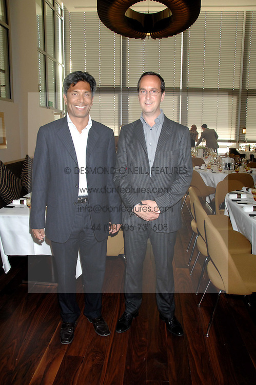 Left to right, owners of the Conran Restaurant group DES GUNEWARDENA and DAVID LOEWI at a dinner hosted by Vogue in honour of Antony Gormley held at the new Skylon restaurant at the refurbished Royal Festival Hall, South Bank, London on 22nd May 2007.<br />