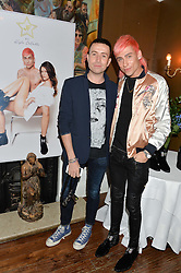 Left to right, NICK GRIMSHAW and KYLE DE'VOLLE at a dinner for JF London x Kyle DeVolle held at Beach Blanket Babylon, Ledbury Road, London on 29th September 2016.