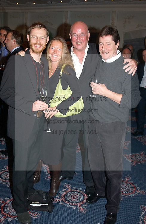Left to right, TOM CONRAN, his sister SOPHIE CONRAN children of Sir Teence Conran, MR REG GADNEY husband of Fay Maschler and SIMON SLATER at the Tatler Restaurant Awards in association with Champagne Louis Roederer held at the Four Seasons Hotel, Hamilton Place, London W1 on 10th January 2005.<br />