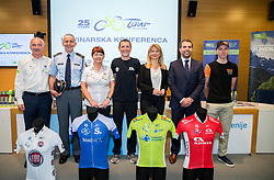 Bogdan Fink, Matjaz Leskovsek, Mojca Novak, Jani Brajkovic, Maja Pak, Tomaz Jontes and Tadej Pogacar during press conference of cycling race Tour Slovenia 2018, on May 17, 2018, in Ljubljana, Slovenia. Photo by Vid Ponikvar / Sportida