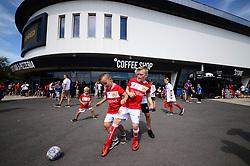 Bristol City fans play football outside Ashton gate  - Mandatory by-line: Dougie Allward/JMP - 04/08/2018 - FOOTBALL - Ashton Gate Stadium - Bristol, England - Bristol City v Nottingham Forest - Sky Bet Championship