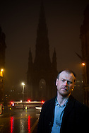 Neil Broadfoot, author of the debut novel 'Falling Fast' from Scottish publisher Saraband. The book is set around events at the Scott monument in Edinburgh.<br /> <br /> picture by Alex Hewitt<br /> alex.hewitt@gmail.com<br /> 07789 871 540